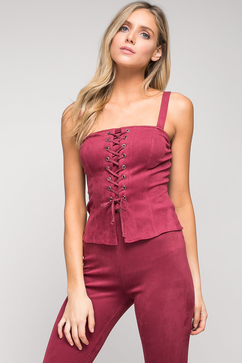 Lace-Up Bustier