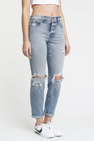 Jeans With Side Buttons