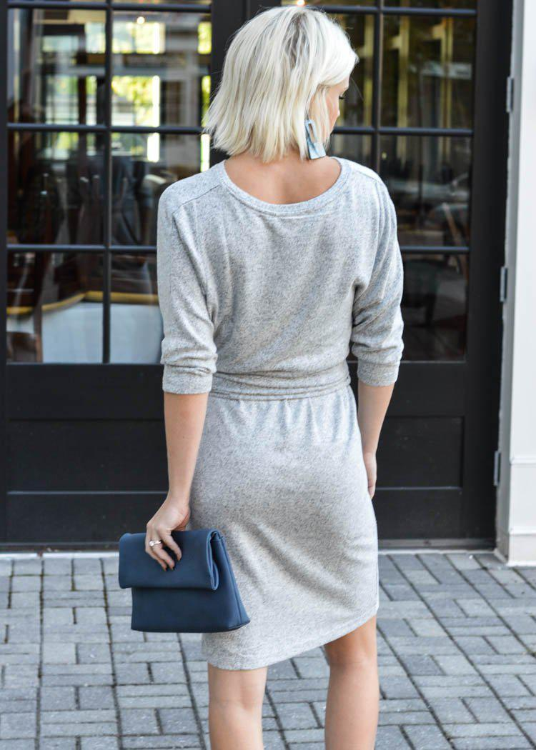 Oversized Wrap Dress