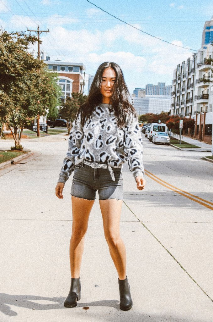 Knit Cheetah Sweater