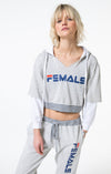 Single Female Sport Muscle Hoodie