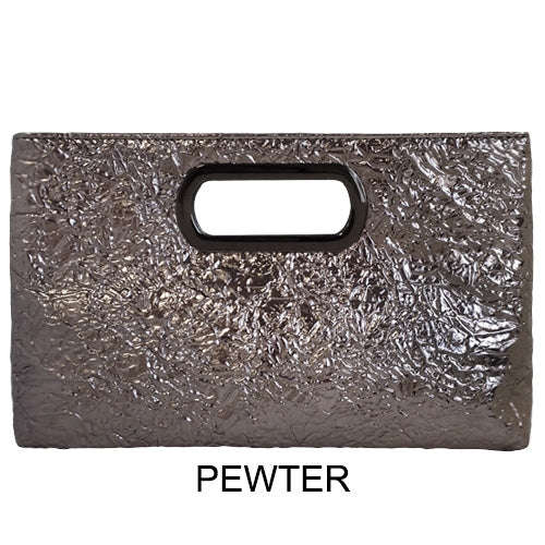 Top Handle Metallic Clutch