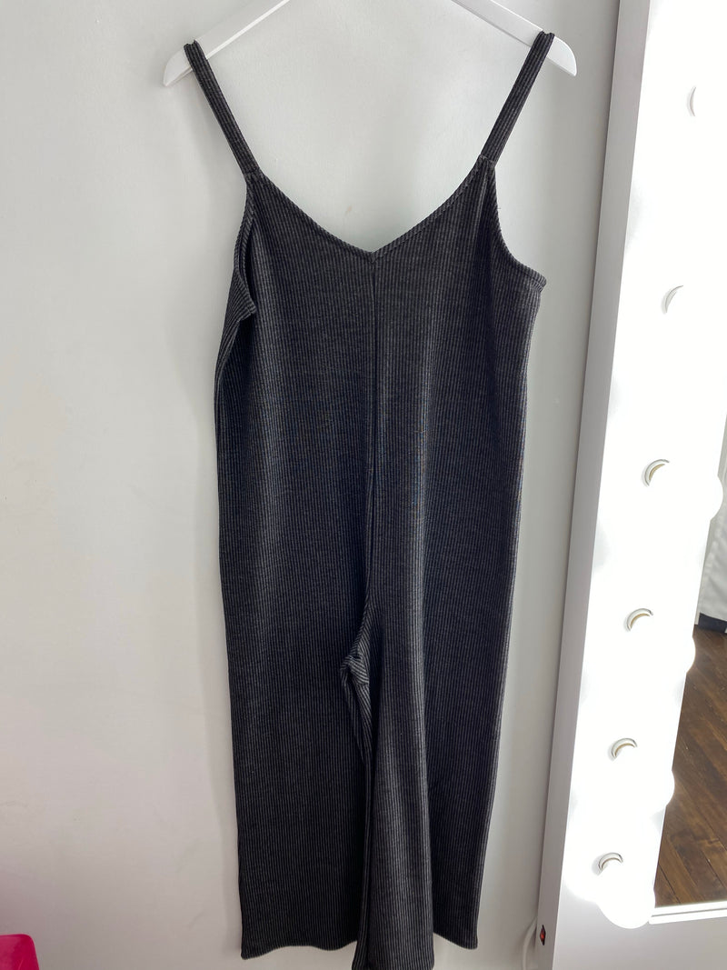 Two Toned Rib Jumpsuit
