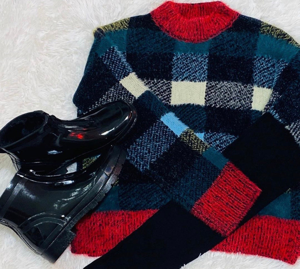 Large Checker Sweater