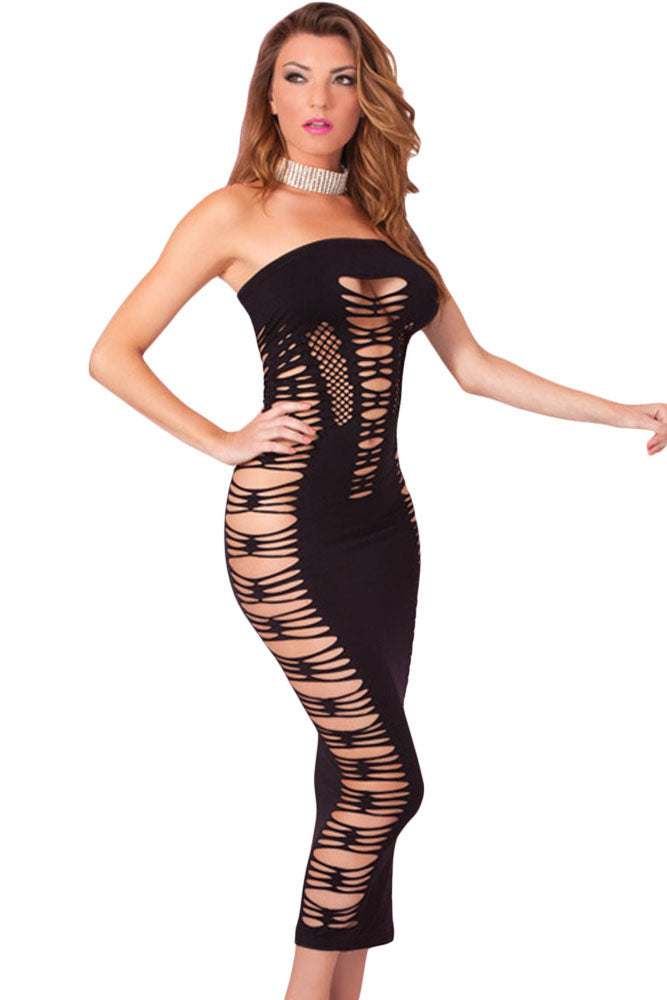 2d877535283 Findakera Big Spender Long Black Tube Dress – FASNOYA