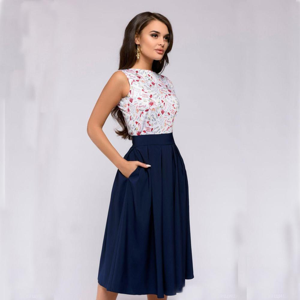Summer Dress 2018 Women Vintage Casual Elegant Bohemian Party Dresses  Sleeveless Floral Prom Midi Dress Long d344db2cd