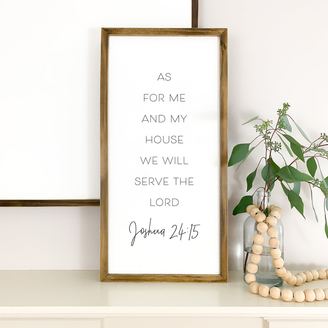 as for me and my house we will serve the lord wood sign, Joshua 24 15