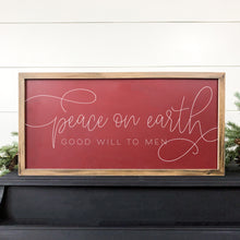 PEACE ON EARTH GOOD WILL TO MEN