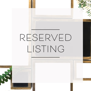 Reserved Listing For Roxanne Olsen