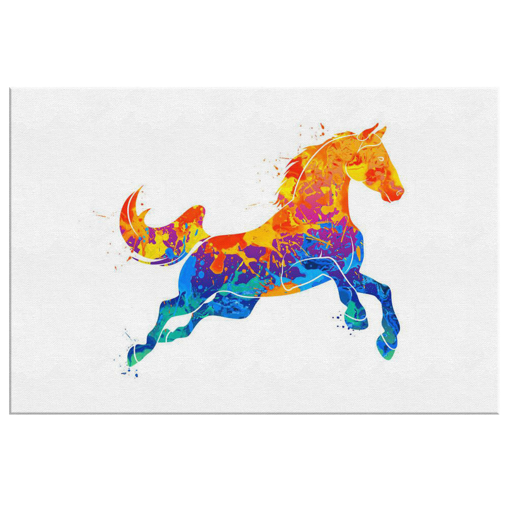 Abstract Galloping Horse Canvas