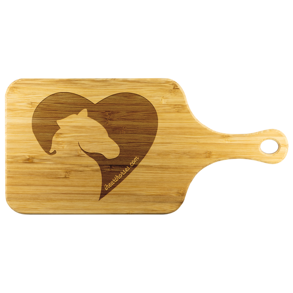 I Heart Horses Cutting Board w/ Handle