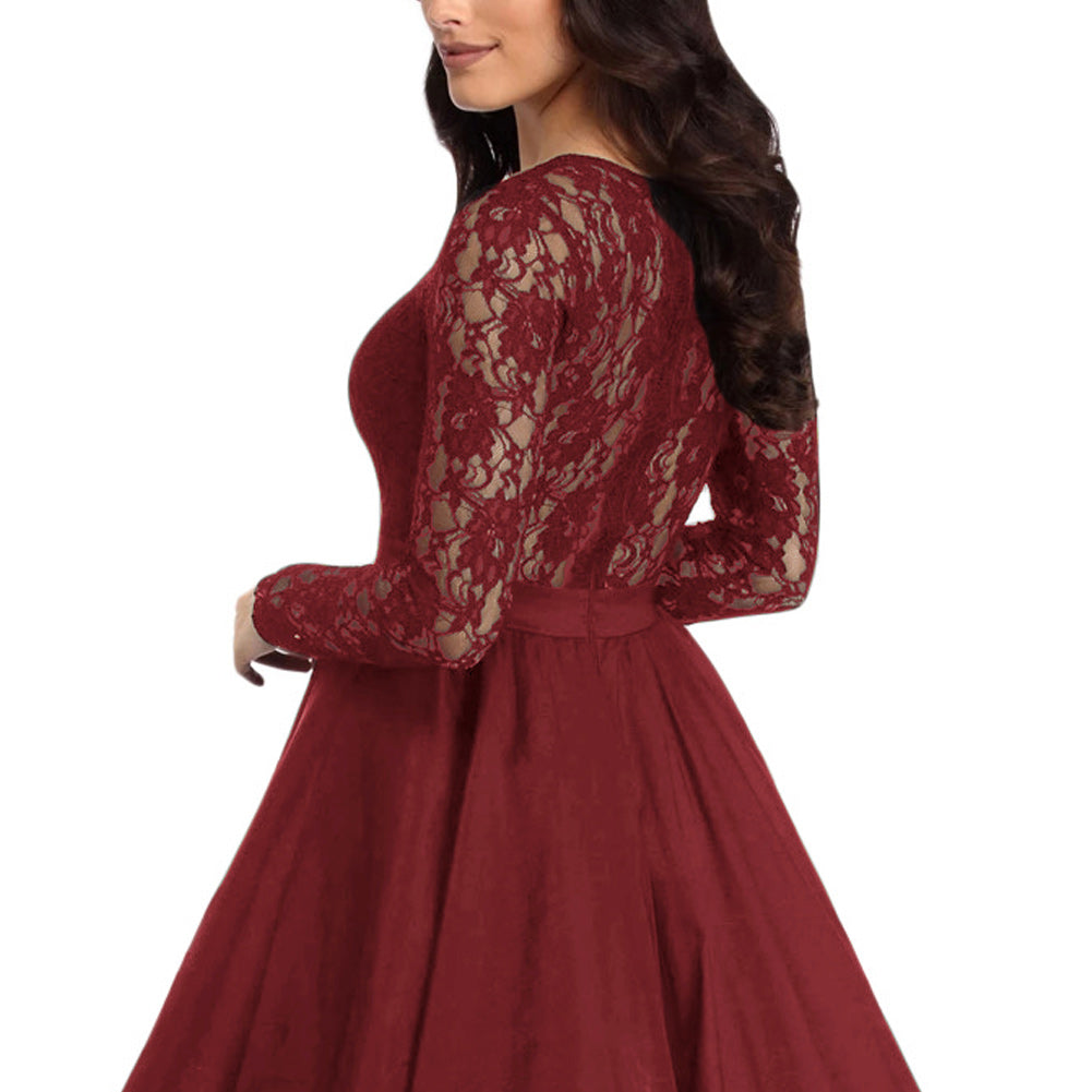 cocktail party dress - red4