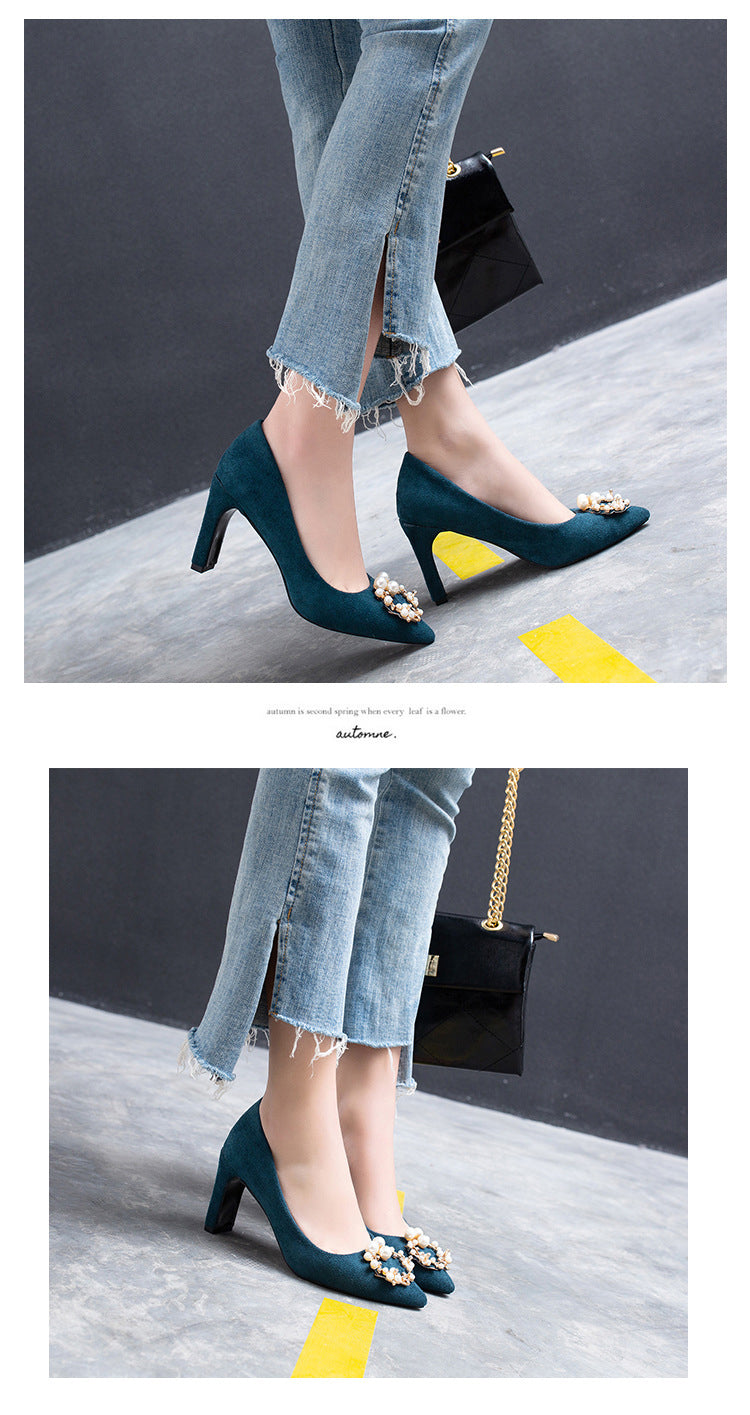suede surface pumps