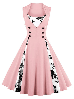 Hapqeelin Women's Polka Dot Retro Vintage Style Cocktail Party Swing Dresses