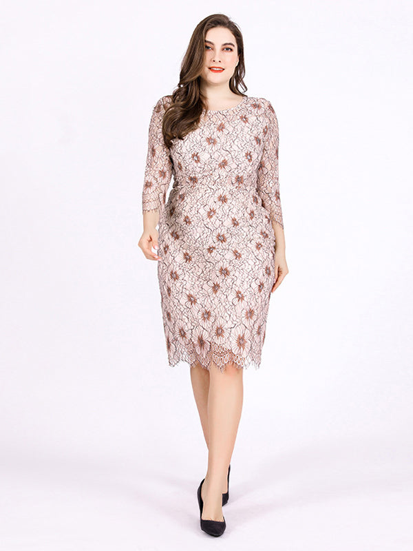 Women's Vintage Over-size Long Sleeve Hapqeelin Little Transparent Party Dress