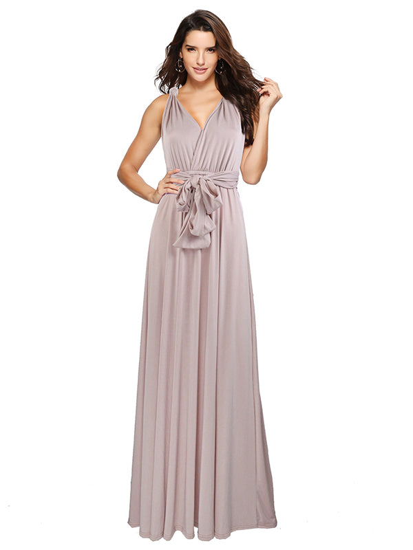 Hot Convertible Wrap Magical Multi-Wearing Way Long Dress in 30 Colors -1