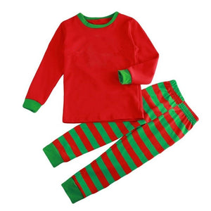 2018 Family Matching Pajamas Set with Striped pattern
