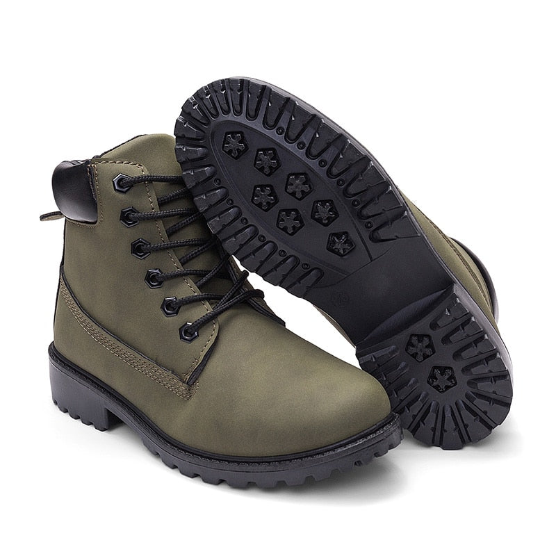 Winter Flat Heel Martin Boots for Women