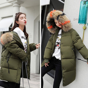 2018 winter Hooded Parka feminino Coat plus size Long