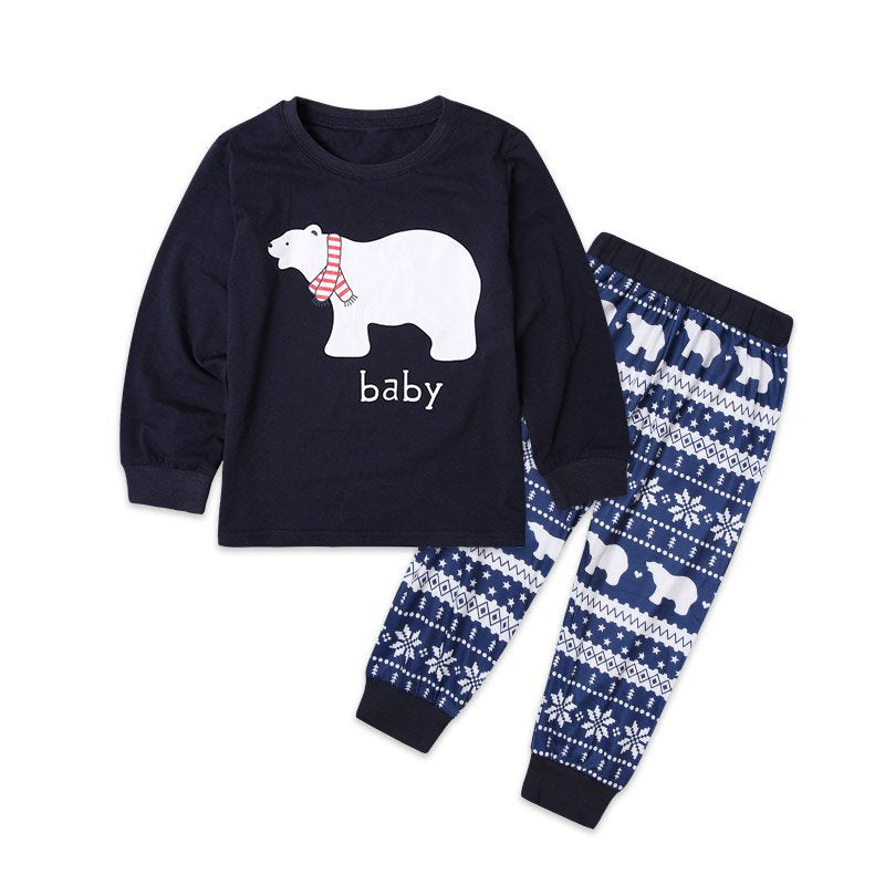 New 2018 Family Matching Pajamas Sets Sleepwear Nightwear Bear printed
