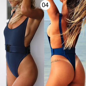 Sexy Leopard Swimwear Women One Piece Swimsuit