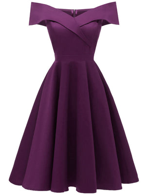 Bridesmaid Party Dress Flower Girl Big Off-Shoulder & Hemlines Dress