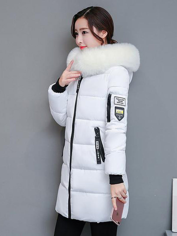 Parka Women Winter Coats Long Cotton Casual Fur Hooded
