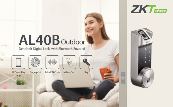 ZKTeco AL40B Smart Lock, Safeguade Your Home