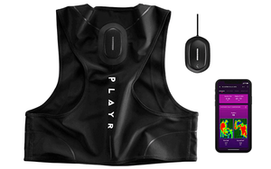 football tracking vest, smartphone, pod