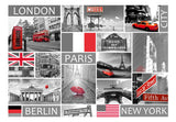 Fotomurale - London, Paris, Berlin, New York