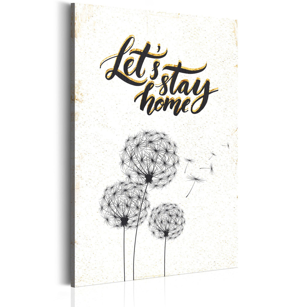 Quadro - La mia casa: Let's stay home