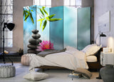 Paravento - Water Lily and Zen Stones II [Room Dividers]