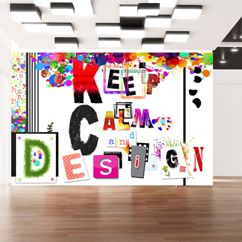 Fotomurale - Keep Calm and Design