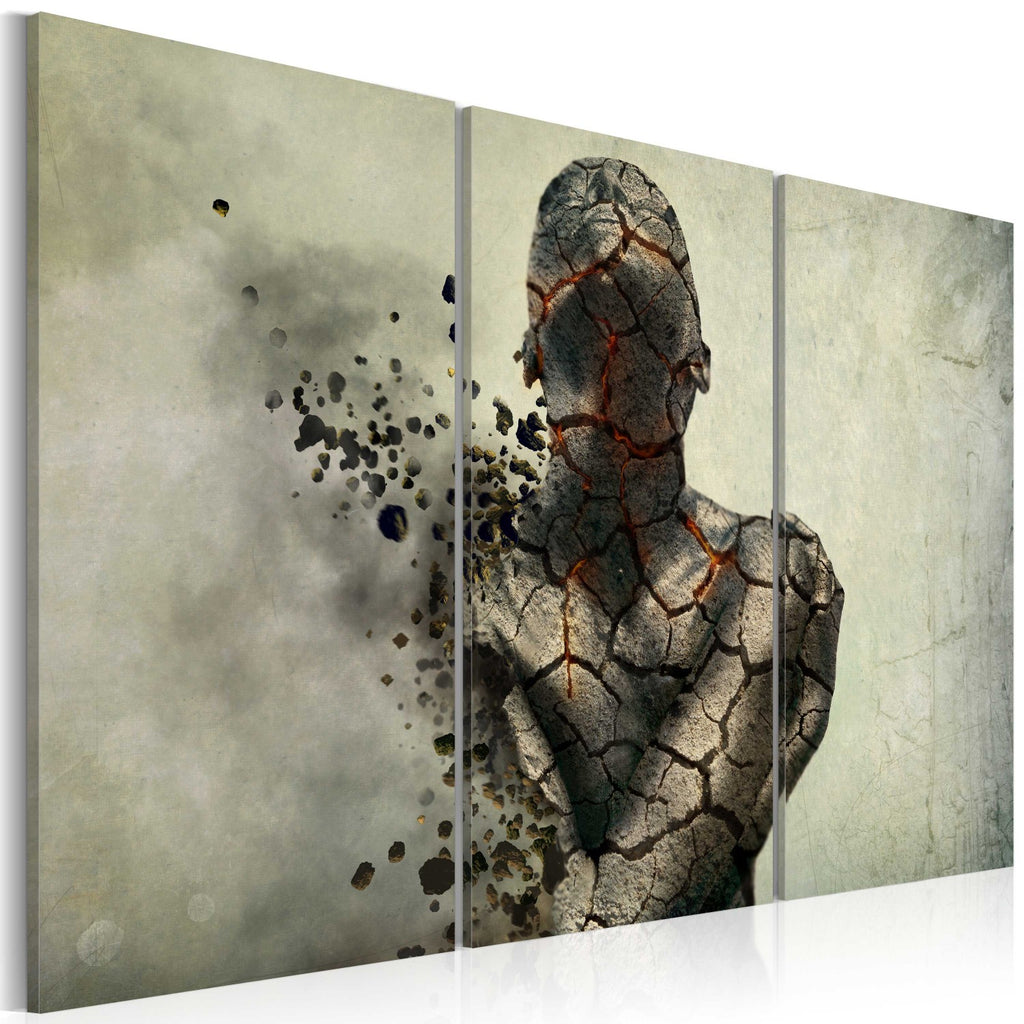 Quadro - The man of stone - triptych