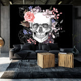 Fotomurale - Skull and Flowers