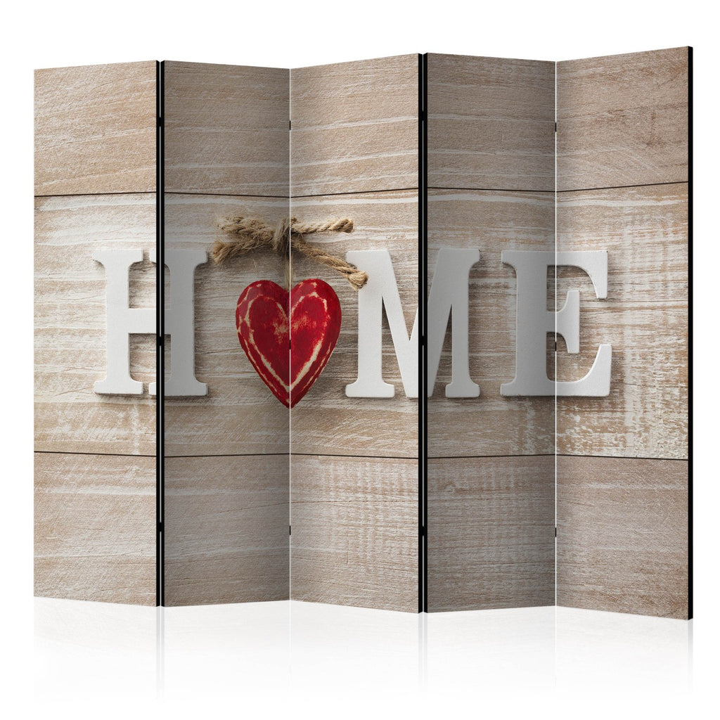 Paravento - Room divider - Home and red heart