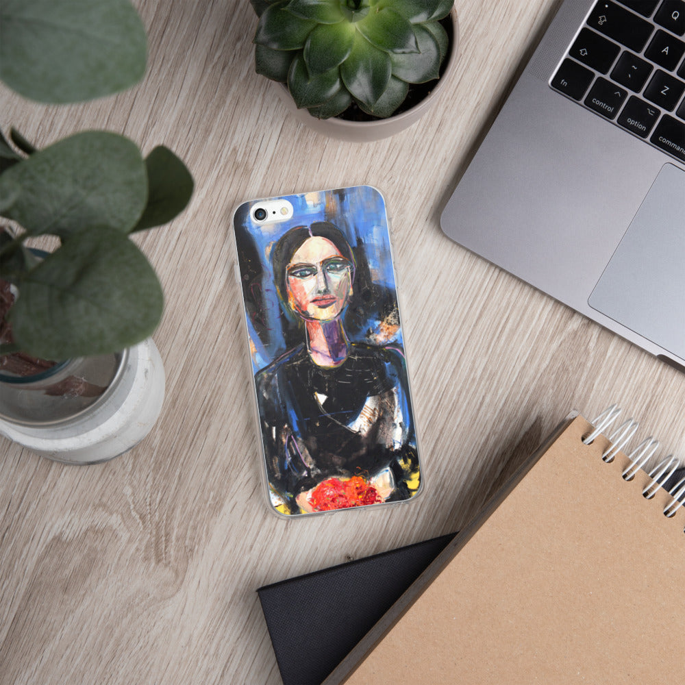 She Brought Flowers - iPhone Case
