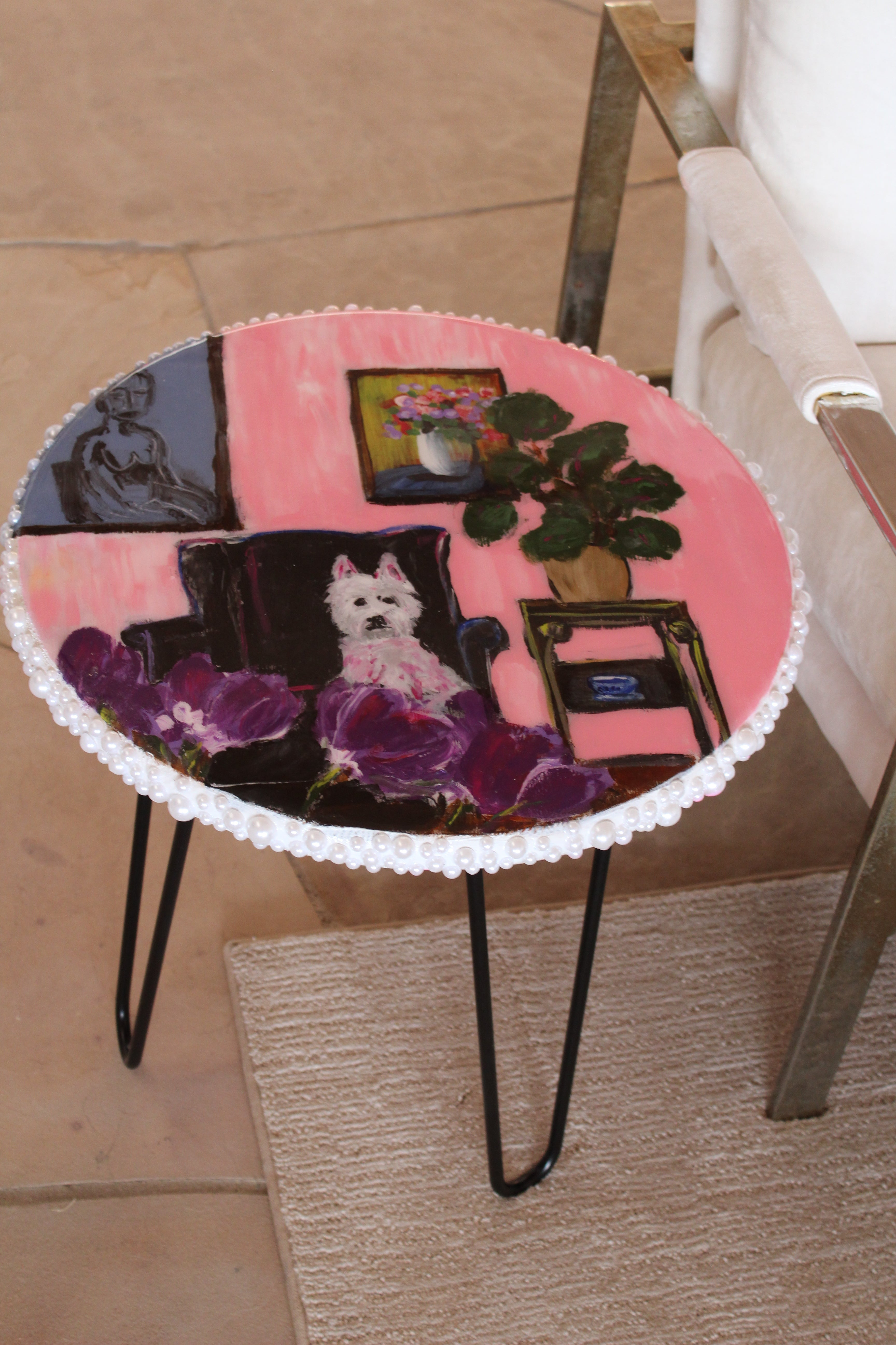 "Pretty Pup in Pink - 18"" Table"