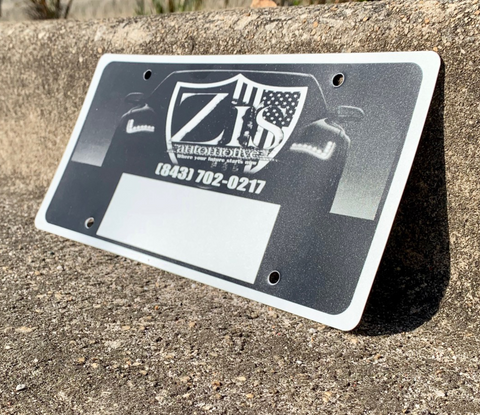23 Gauge License Plate Insert