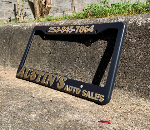 3D Molded License Plate Frames (Raised Letter)