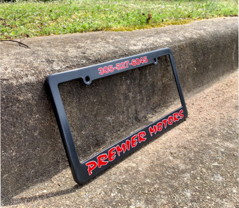 Silk Screened Molded License Plate Frames - 2 Color
