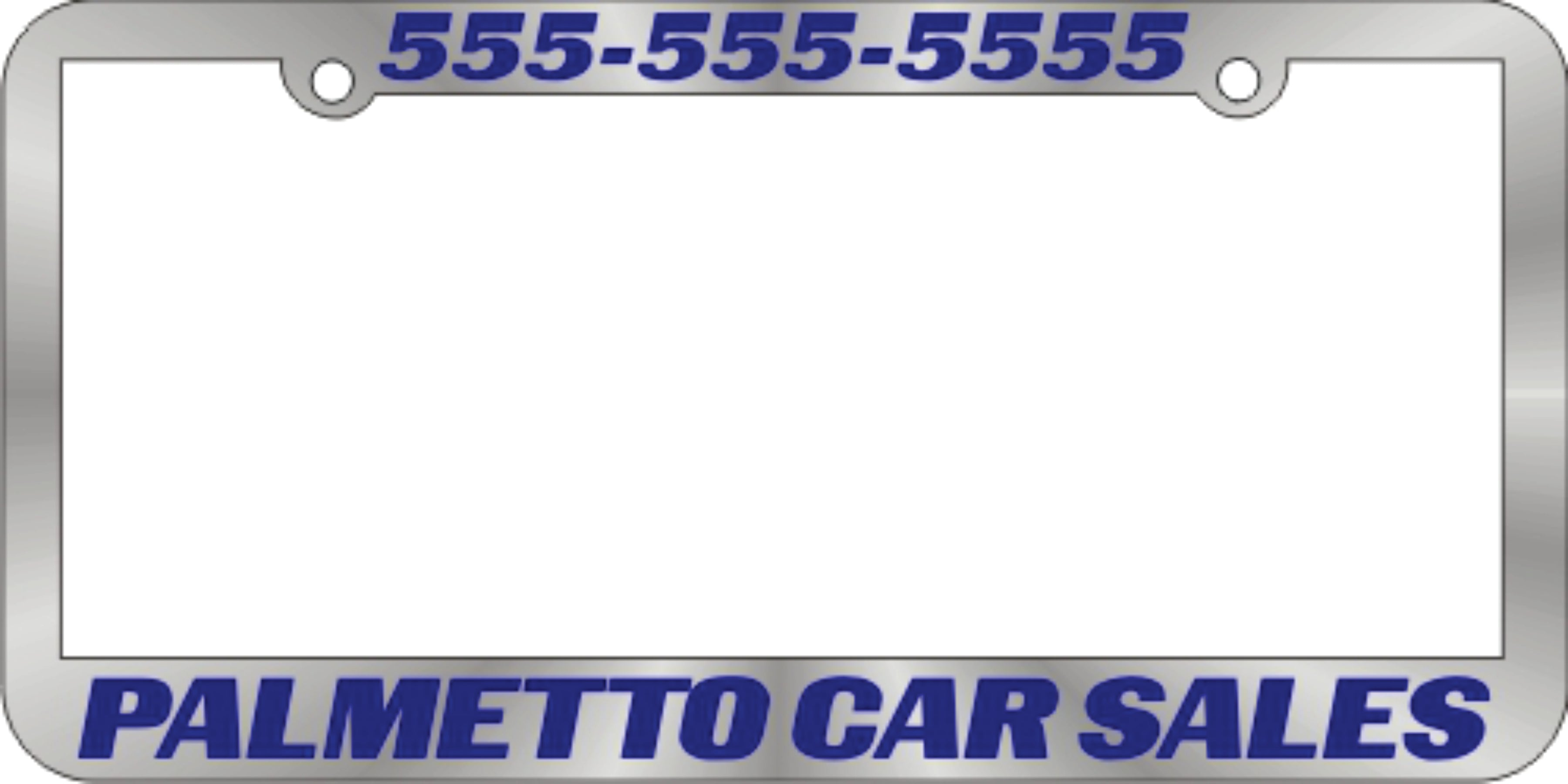 Chrome Plated Plastic License Plate Frames (Silk Screened)