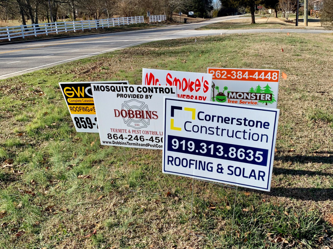 Yard Signs And Stands