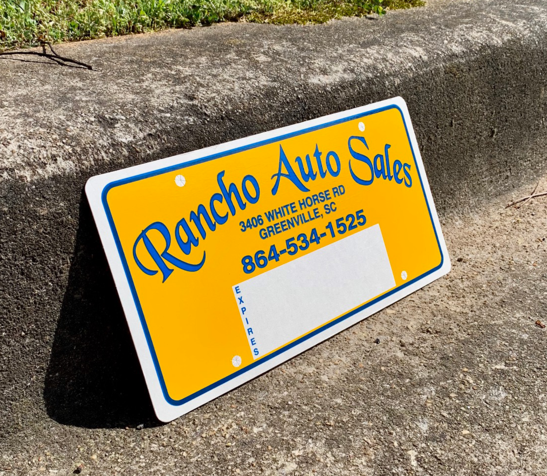 Poly Coated Cardboard License Plate Insert