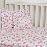 Trefles Pink Fitted Crib Sheet