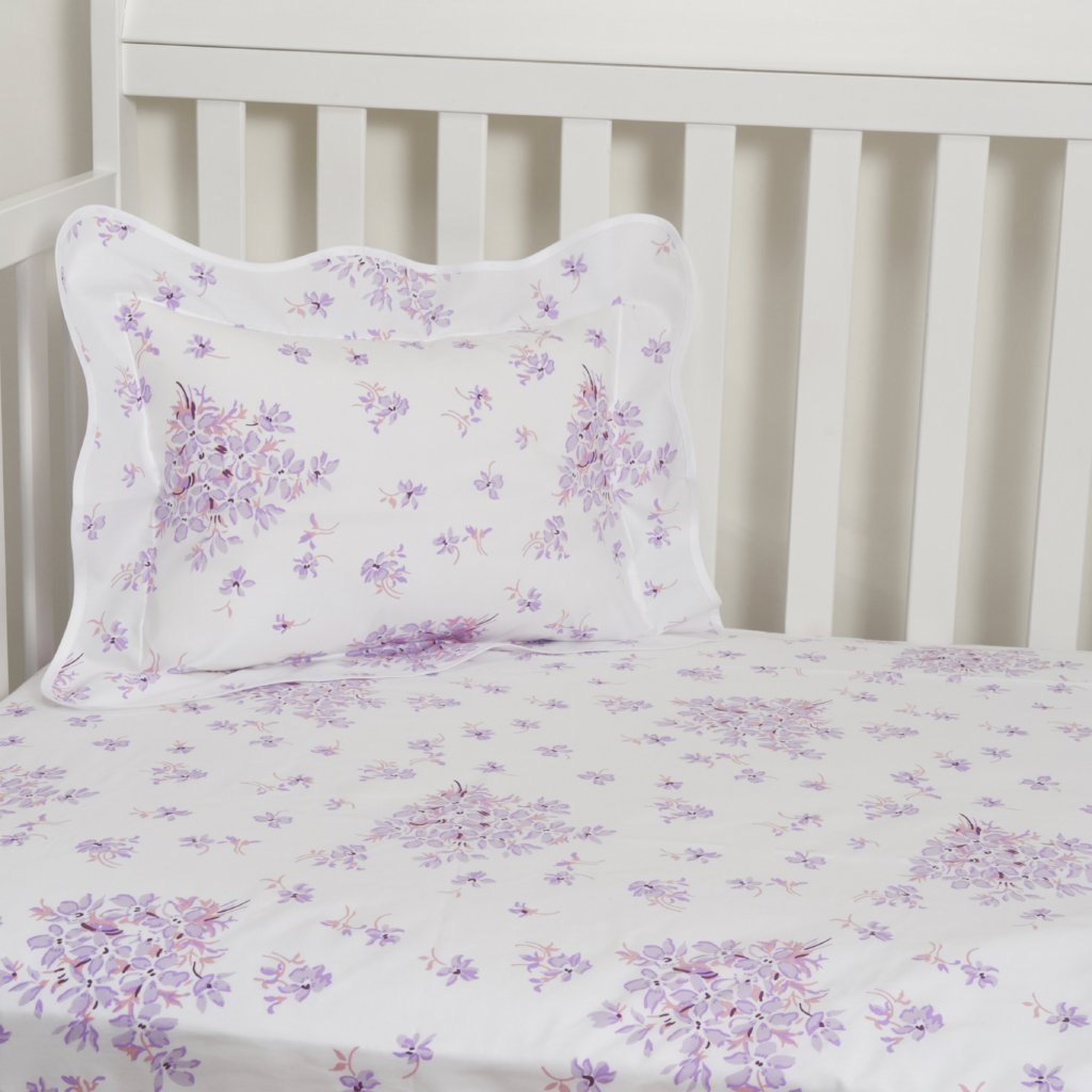 Violettes Lilac Fitted Crib Sheet