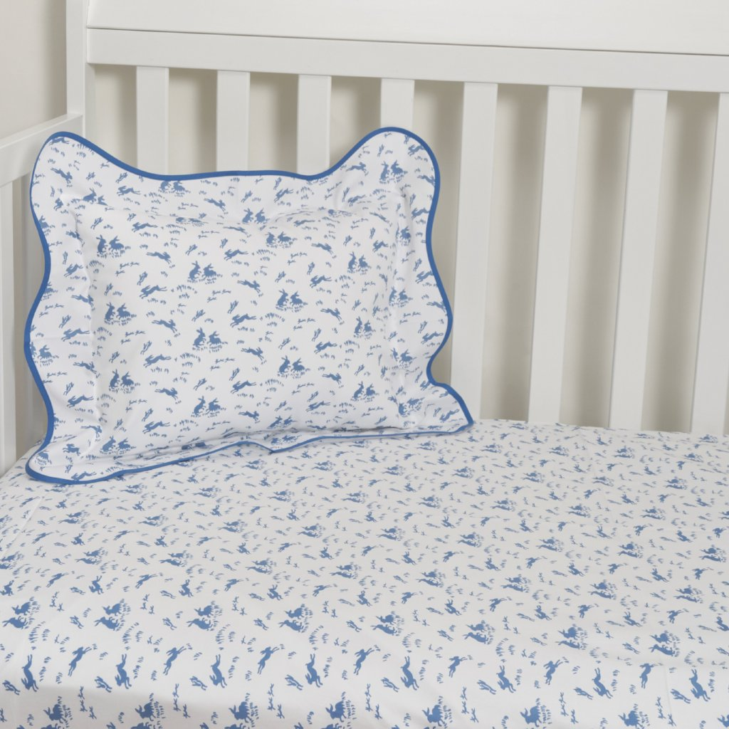 Lapins blue Crib Sheets
