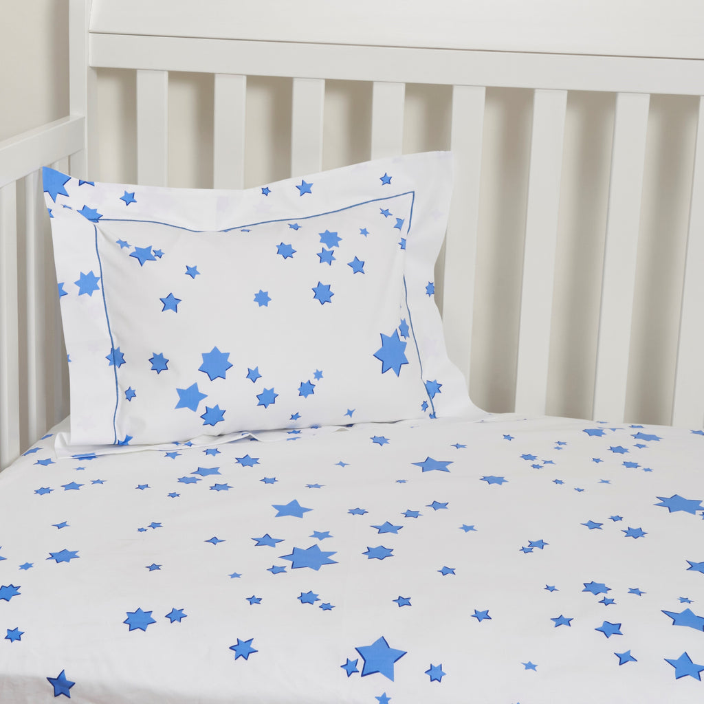 Etoiles blue Fitted Crib Sheet