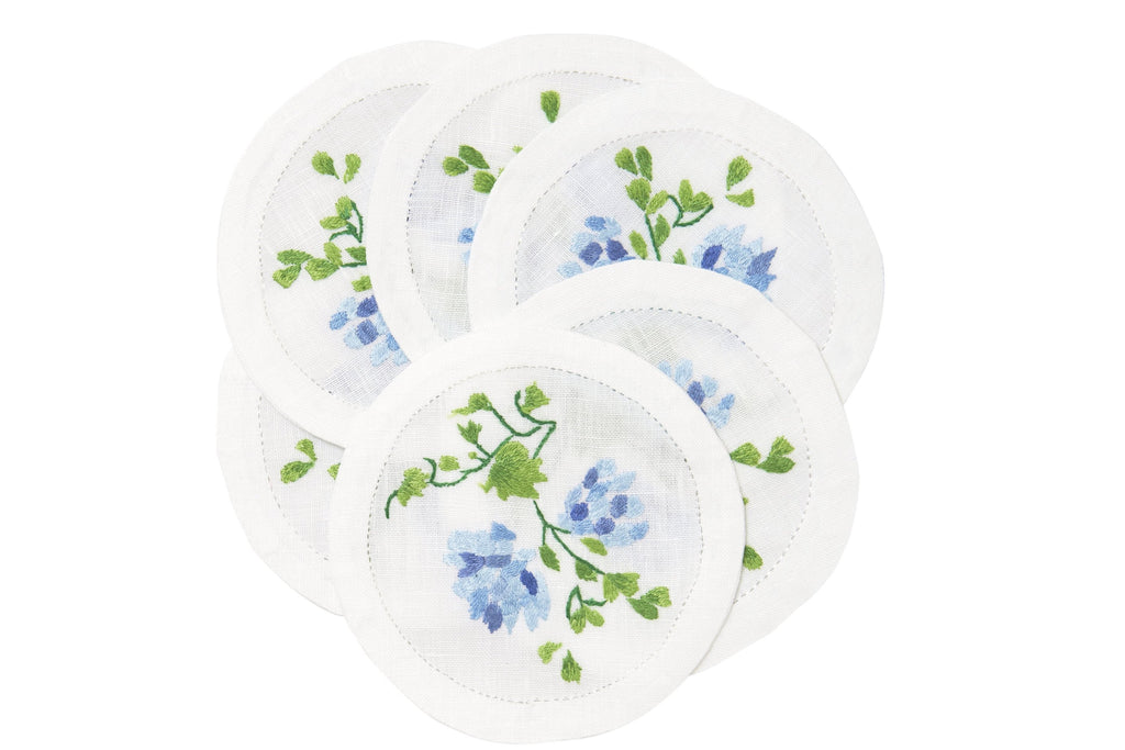 Mariage Embroidered Coasters