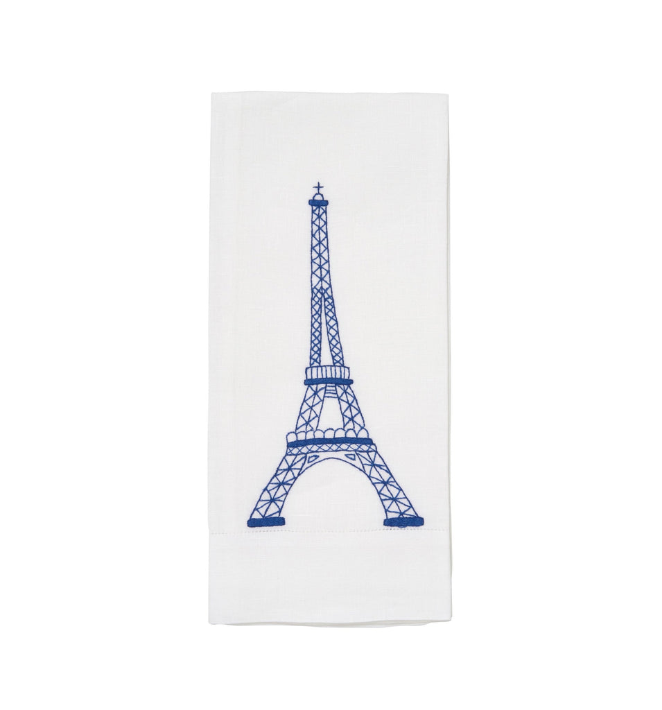 Eiffel Tower Royal Blue Guest Towel
